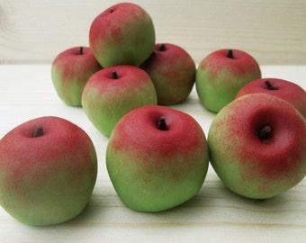 Marzipan Apples (9) - 3D marzipan fruit - apple candy - apple cake - apple cake topper - apple decorations