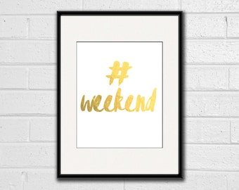 "Printable ""Hashtag Weekend"" Canvas - Digital Download"