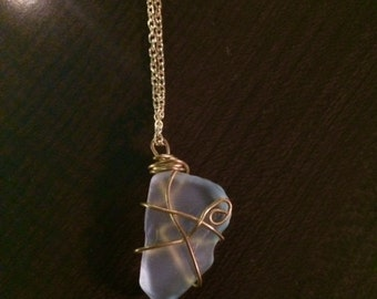Gold Wire-wrapped Sea Glass from Aruba