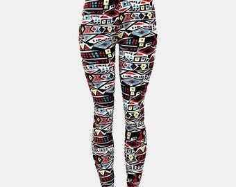 Womens Boho Aztec Super Soft Tribal Leggings - One Size