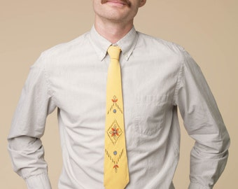 Rockabilly Painted Tie // Hand Painted Tie // 50's Tie // Rockabilly Style Tie