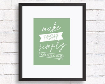 Quote prints, Printable art, Inspirational quote printable wall art, Motivational quote print, Amazing quote, home decor wall, Mint green