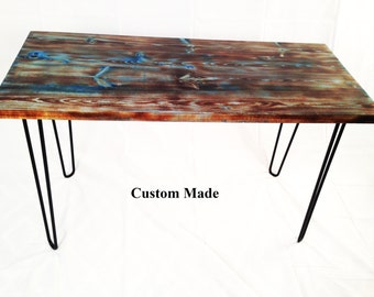 Custom Modern Industrial Desk with HairPin Legs