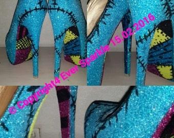 Sally themed heels, Nightmare before Christmas