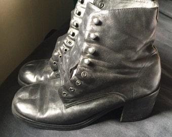 Womens Amanda Smith 1990s Leather Boot 7 1/2
