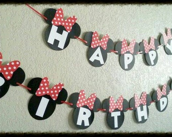 Mickey Mouse, Garland, Banner.  10 foot Happy Birthday Mickey Mouse Garland, Mickey Mouse Banner, Mickey Mouse Garland for Birthday party.