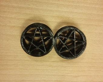 3D Pentagram Tunnels 3D Printed Pentagram Plugs