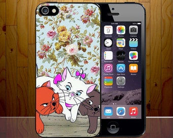 Marie Aristocats Cute Chubby Floral Pattern Parody Novelty Phone Case Cover Z588