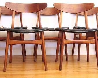 Hans Wegner,CH30 for Carl Hansen,Danish,dining chair,set of 6,Odense,Denmark