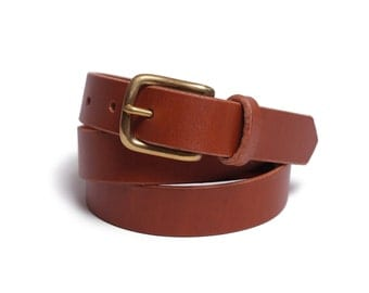 "Belt 1"" with a Classic Buckle in Tan"
