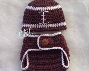 Made to Order, Baby Football Beanie Hat, Crochet Hat