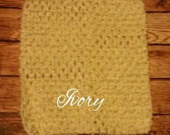 "Medium 7""x6"" Ivory Crochet Tutu Tube Top - Tutu Top - Halter Top"