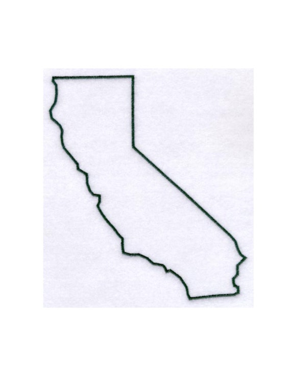 California Stencil Made From 4 Ply Mat By Woodburnsnewengland