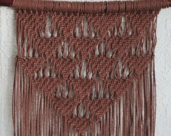 Macrame Wall Hanging with Copper and Fringe details