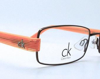 Vintage Calvin Klein 5198 Rectangular Metal & Acrylic Glasses Frames