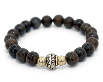 Bronzite Bracelet - Spiritual, ethically sourced vegan jewellery.