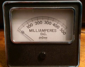 Vintage Phastron Custom Milliamperes Meter 0-500 - Nice Condition - Untested