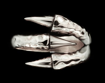 Claw Ring Sterling Silver Creature Eagle Good Luck