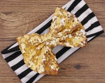 Gold Sequin Headband Infant