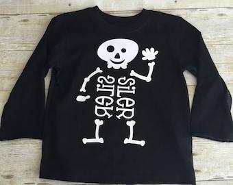 Kid's Halloween Skeleton Shirt