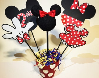 Minnie Mouse Table Centerpieces – Set of 2 Custom Centerpieces