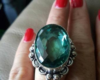 Green Amethyst Ring - size 8!
