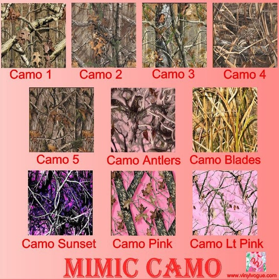 12x12 Or 12x24 Htv Mimic Camouflage Printed Heat By Vinylvogue