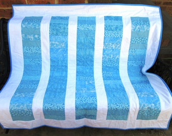 Light blue lap quilt