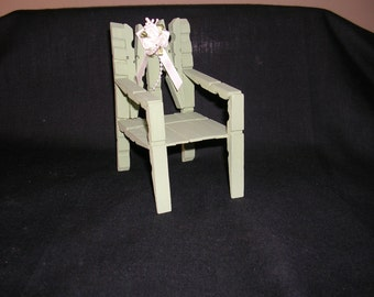 Wooden chairs made from clothes pegs