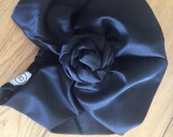 custome order for kita 2- flower black turban