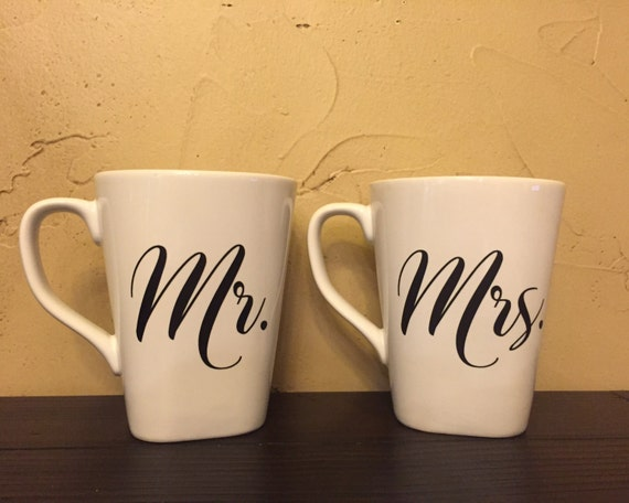Customized Wedding Coffee Mugs : Mr. & Mrs. Coffee mugs, mugs, personalized, wedding gift, bridal ...