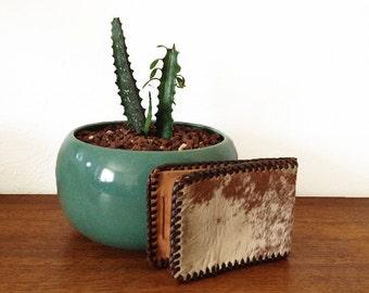 Vintage Leather Wallet – Cowhide & Hair Bifold