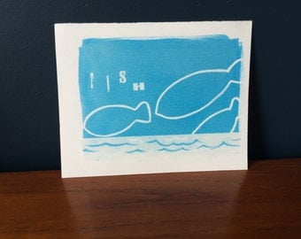 Handcrafted print fish theme