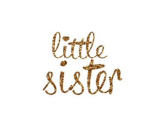 little sister iron on decal glitter iron on letters diy little sister iron on