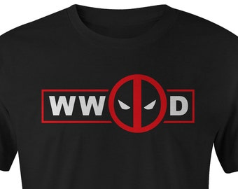 WW Deadpool D  Youth T-shirt, Deadpool T-shirt, Deadpool Tee, Deadpool Tees, Marvel Deadpool Shirt, What Would Deadpool Do