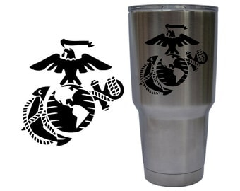 United States Marine Corps Eagle, Globe & Anchor USMC EGA Decal for YETI 30 oz Rambler Tumbler Cup (Decal Only) Glossy Permanent Vinyl