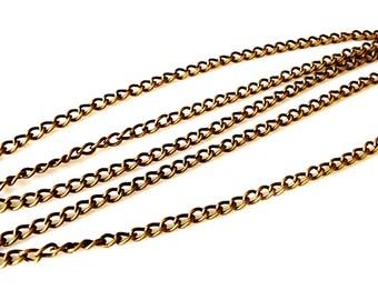 1 Meter 4x3 mm Bronze Chain - Antique Bronze - 1 Meter or 3.3 Feet