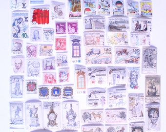 Postage stamps from Czechoslovakia, 65 different kind of postage stamps from Czechoslovakia, postage stamps  of Slovakia