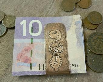 Skyrim Inspired Gamer Customizable Money Clip- Copper Money Clip- Gamer Gift