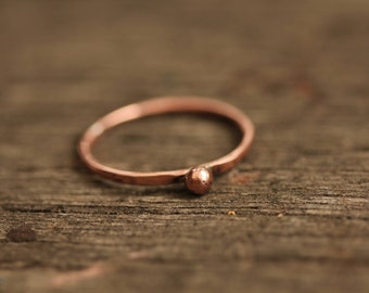 Copper Stacking Ring 2mm wide and hand beaten copper .   Aus Size  S 1/2 I can make this to your size.
