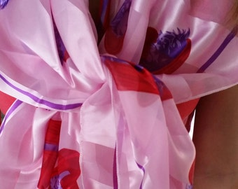 SALE - Now - Pink Red Hat Scarf for that Night out