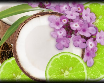 PREMIUM  FRAGRANCE OIL - Coconut Lime Verbana for Candles Soaps & Home Warmers / Burner , Beauty and more