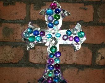 handmade mosaic wooden cross