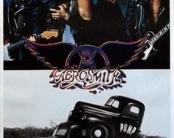 Aerosmith 24x34 Pump Group & Cover Art Collage Poster Steven Tyler