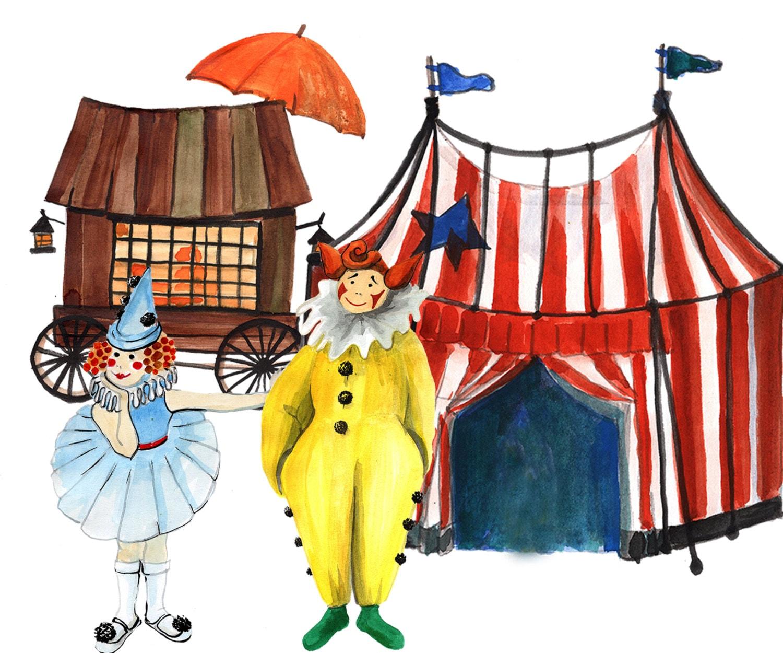 Circus Clipart: KIDS CLIP ART Vintage Circus Art by ...