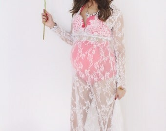 It's All About Lace Maternity Dress
