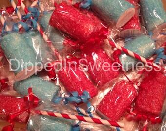 Colourful marshmallow pops - 1 dozen