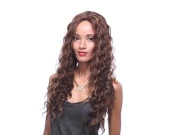 100% Long human hair wig