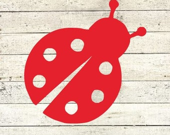 Ladybug  Vinyl Decal  Yeti Decal   Ipad Decal  MacBook Decal  Window Decal  Track Pad  Decal  Sticker Lady bug