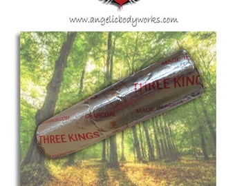 Three Kings Incense Charcoal - 1 Roll of 10 discs/tablets